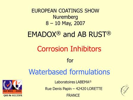 Waterbased formulations