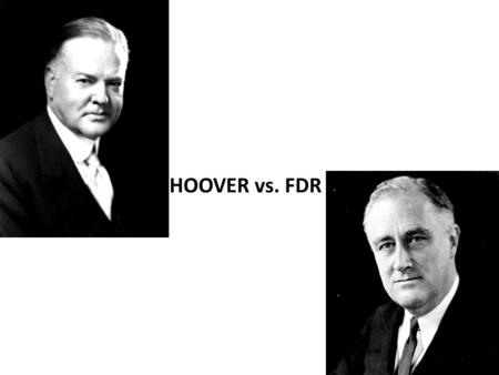 HOOVER vs. FDR. Causes of the Great Depression Wages lagging behind the cost of living Overproduction of consumer goods Excessive buying on credit Major.
