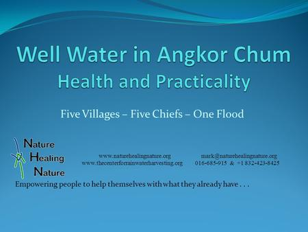 Five Villages – Five Chiefs – One Flood   016-685-915 &