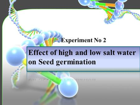 Experiment No 2. 5 Experiment Material and Chemicals Overview Introduction Procedure Objective 1 2 3 4.