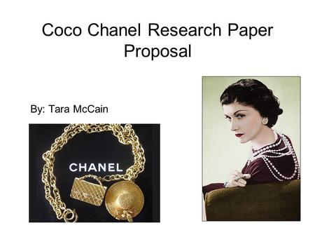 Coco Chanel Research Paper Proposal
