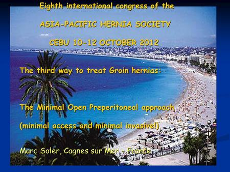 Eighth international congress of the