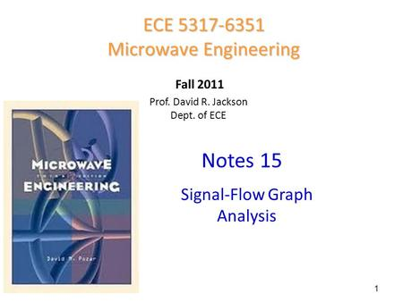 Notes 15 ECE Microwave Engineering