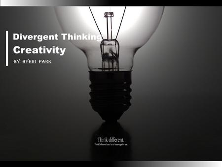 Divergent thinking represents the potential for creative thinking and problem solving. It is not synonymous with actual creative behavior but has.