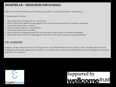 SMARTER UK – RESOURCES FOR SCHOOLS Refer to the Smarter UK Resources for Schools pack (LINK) for associated worksheets and guidance. This presentation.