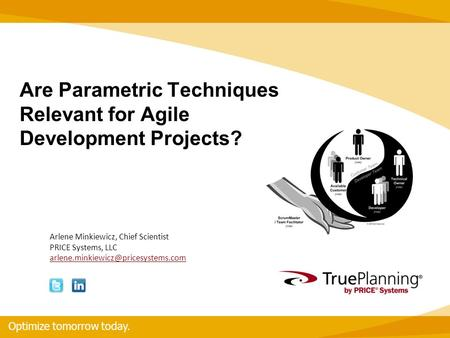 Are Parametric Techniques Relevant for Agile Development Projects?