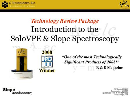 """One of the most Technologically Significant Products of 2008!"""