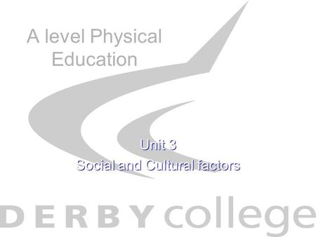 A level Physical Education