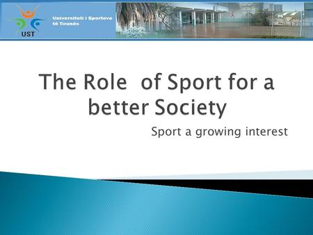 Sport a growing interest. 1. The Berlin PE World Summit (1999) - The PE situation 2. The Berlin Agenda for Action for Government Ministers and Appeal.
