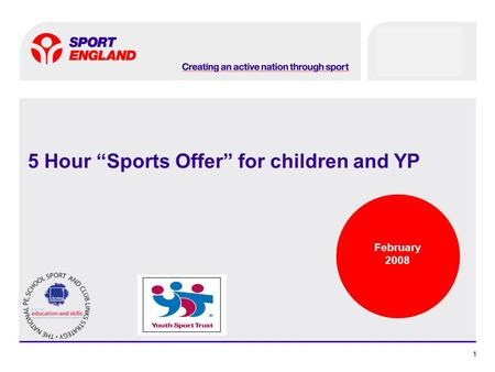 11 5 Hour Sports Offer for children and YP February 2008.