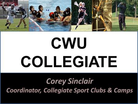 CWU COLLEGIATE SPORT CLUBS. PROGRAM HISTORY Sport Clubs at CWU since 1970s Rugby and Rodeo are the two oldest clubs on campus In 2000 there were only.