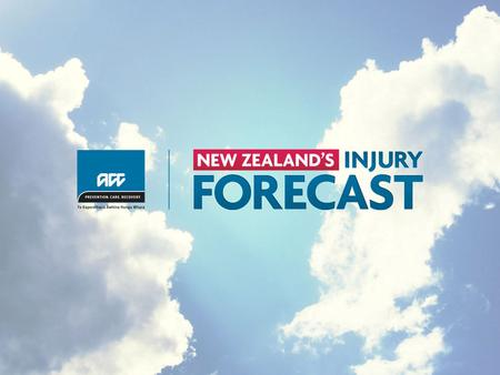 In just one week across the country, the injury forecast for New Zealanders is… *Statistics are calculated using ACC claims data from the third week in.