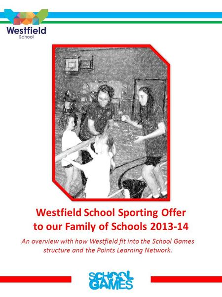 Westfield School Sporting Offer to our Family of Schools 2013-14 An overview with how Westfield fit into the School Games structure and the Points Learning.