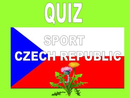 What are the most favorite sports in the Czech republic?