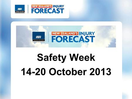 Safety Week 14-20 October 2013. KNOW IT AND CHANGE IT.