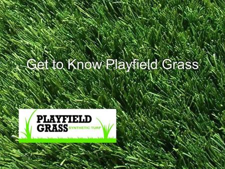 Joey Lomeli Get to Know Playfield Grass.