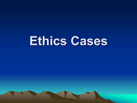 Ethics Cases. Free Air Travel Tickets The company sends an employee to a conference that is attended by over 2,000 persons. Conference attendees are invited.