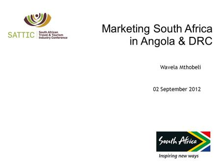 Marketing South Africa <strong>in</strong> Angola & DRC