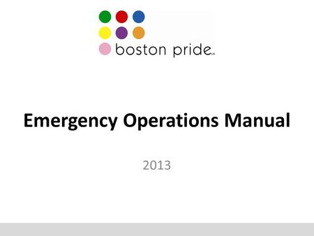 Emergency Operations Manual