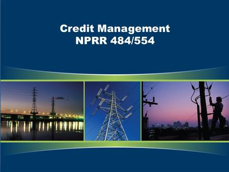 Credit Management NPRR 484/554. Legal Disclaimers and Admonitions PROTOCOL DISCLAIMER This presentation provides a general overview of NPRR 484/554 and.