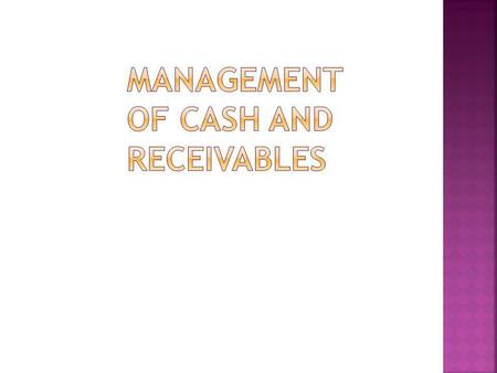 MEANING OF CASH:- Cash is one of current assets of a business concern should always keep sufficient cash for meeting its obligations. Cash means both.