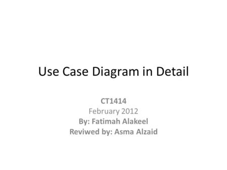 Use Case Diagram in Detail