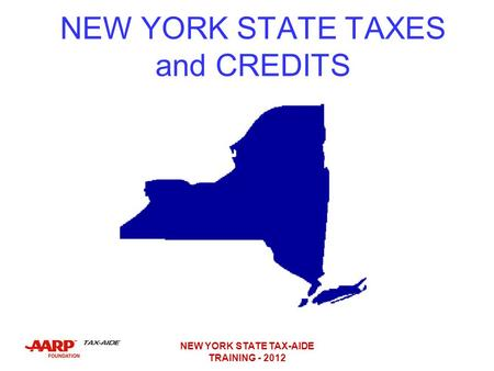 NEW YORK STATE TAXES and CREDITS