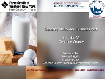 Genesee Valley Agri-Business Park Batavia, NY Genesee County