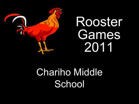 Rooster Games 2011 Chariho Middle School. Multiple Choice Question Round Each question worth 10 points 200 points available Parent volunteers – LIME GREEN.