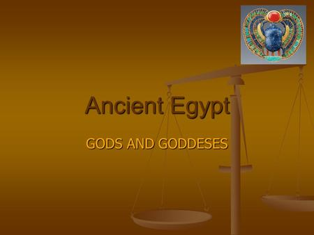 Ancient Egypt GODS AND GODDESES By Thomas Falzon.
