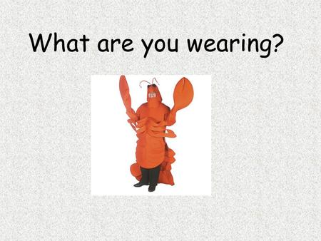 What are you wearing?.