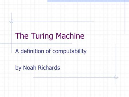 how to read a turing machine