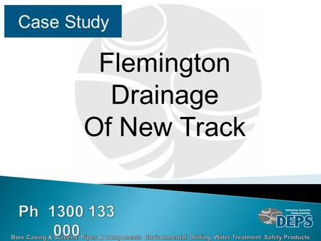 Case Study Flemington Drainage Of New Track. Flemington Racecourse is a major racing venue in Melbourne, the track due to its surface condition needed.