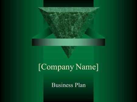 [Company Name] Business Plan.