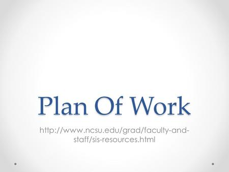 Plan Of Work  staff/sis-resources.html.