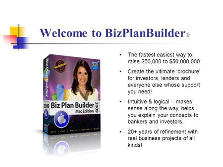 Welcome to BizPlanBuilder®