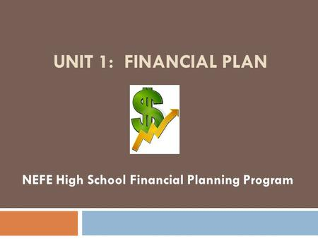 NEFE High School Financial Planning Program