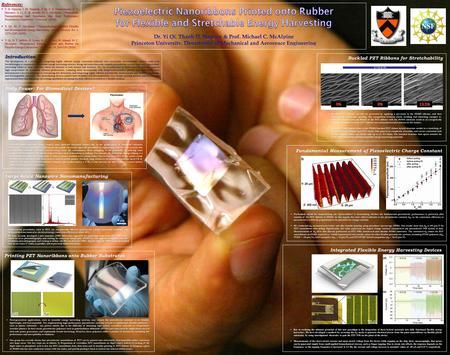 Introduction The development of a method for integrating highly efficient energy conversion materials onto stretchable, biocompatible rubbers could yield.