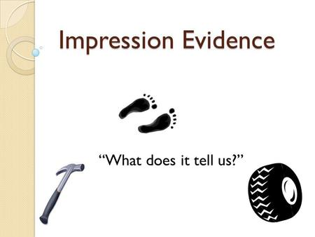 Impression Evidence What does it tell us?. Essential Question: How can an impression be used to solve a crime?