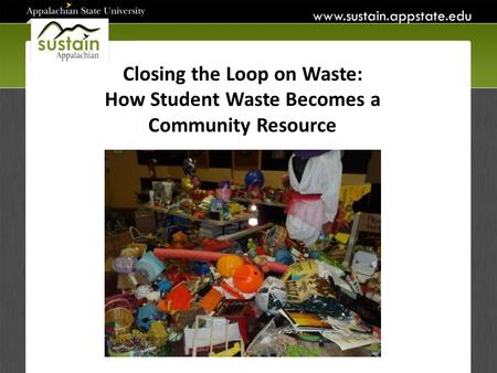 Closing the Loop on Waste: How Student Waste Becomes a Community Resource.