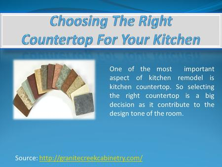 Source:  One of the most important aspect of kitchen remodel is kitchen countertop. So.