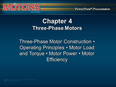 Chapter 4 Three-Phase Motors