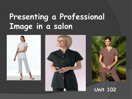 Presenting a Professional Image in a salon