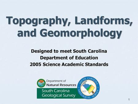 Topography, Landforms, <strong>and</strong> Geomorphology