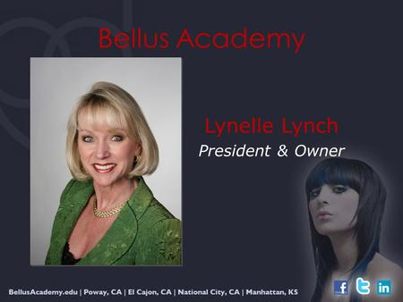 Bellus Academy Lynelle Lynch President & Owner. Integrating Team Values with Pacific Institute Strategies for Success.