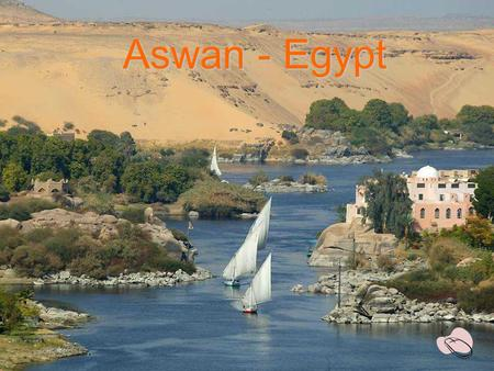 Aswan - Egypt Corniche - Aswan Tomb Of Aga Khan – in front of Aswan.