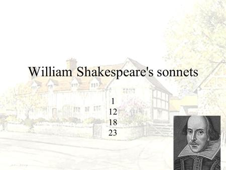 William Shakespeare's sonnets