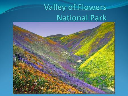 Valley of Flowers National Park is an Indian national park, nestled high in West Himalaya, is renowned for its meadows of endemic alpine flowers and outstanding.