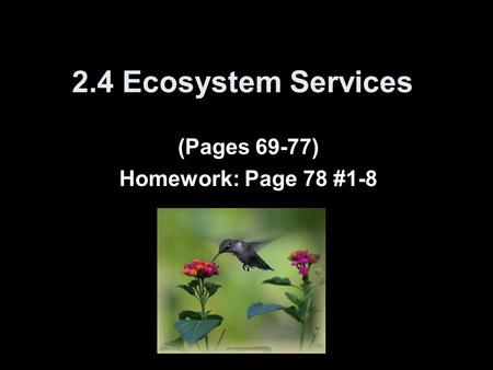 (Pages 69-77) Homework: Page 78 #1-8