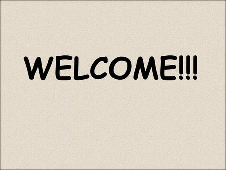 WELCOME!!!. My Obligation: John 3:30 Your Obligation: 1 John 4:1.